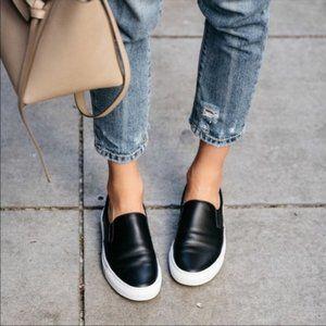 GREATS Brooklyn Wooster Leather Slip On Sneakers 7